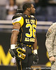 Oaltewah, Tenn. (Oaltewah HS) linebacker Jacques Smith watches pregame activities before the U.S. Army All-American Bowl on Saturday, January 9, 2010 at the Alamodome in San Antonio, Texas. / Gator Country photo by Tim Casey
