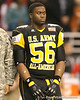 Atlanta (Douglass HS) defensive tackle Garrison Smith listens to pregame announcements before the U.S. Army All-American Bowl on Saturday, January 9, 2010 at the Alamodome in San Antonio, Texas. / Gator Country photo by Tim Casey