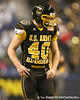 Frederick, Md. (Liganore HS) linebacker Zach Zinack lines up during the first half of the U.S. Army All-American Bowl on Saturday, January 9, 2010 at the Alamodome in San Antonio, Texas. / Gator Country photo by Tim Casey