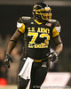 Philadelphia (Washington HS) defensive tackle Sharrif Floyd reacts after a play during the first half of the U.S. Army All-American Bowl on Saturday, January 9, 2010 at the Alamodome in San Antonio. / Gator Country photo by Tim Casey