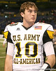 Houston (Second Baptist School) quarterback Connor Wood talks with teammates after the U.S. Army All-American Bowl on Saturday, January 9, 2010 at the Alamodome in San Antonio, Texas. / Gator Country photo by Tim Casey