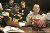 Miramar (Miramar HS) wide receiver Ivan McCartney signs an autograph after the U.S. Army All-American Bowl on Saturday, January 9, 2010 at the Alamodome in San Antonio, Texas. / Gator Country photo by Tim Casey