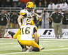 Southlake, Texas (Southlake HS) kicker Cade Foster attempts a field goal during the first half of the U.S. Army All-American Bowl on Saturday, January 9, 2010 at the Alamodome in San Antonio, Texas. / Gator Country photo by Tim Casey