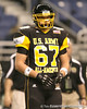 Whitehouse, Ohio (Wayne HS) offensive lineman Andrew Donnal watches pregame activities before the U.S. Army All-American Bowl on Saturday, January 9, 2010 at the Alamodome in San Antonio, Texas. / Gator Country photo by Tim Casey
