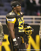 Warner Robins, Ga. (Warner Robins HS) defensive tackle Jeff Whitaker watches pregame activities before the U.S. Army All-American Bowl on Saturday, January 9, 2010 at the Alamodome in San Antonio, Texas. / Gator Country photo by Tim Casey
