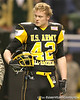 Zionsville, Ind. (Zionsville HS) linebacker Blake Lueders watches pregame activities before the U.S. Army All-American Bowl on Saturday, January 9, 2010 at the Alamodome in San Antonio, Texas. / Gator Country photo by Tim Casey