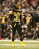 Darlington, S.C. (Darlington HS) defensive back Victor Hampton lines up during the first half of the U.S. Army All-American Bowl on Saturday, January 9, 2010 at the Alamodome in San Antonio, Texas. / Gator Country photo by Tim Casey