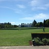 One of the playing fields at Nike headquarters in Beaverton, Oregon.
