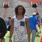 CB Aaron Robinson watches the Florida Gators football camp on June 6th, 2015. Gator Country photo by Kassidy Hill.