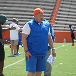 Geoff Collins observes the Florida Gators football camp on June 6th, 2015. Gator Country photo by Kassidy Hill.