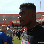 CB Chauncey Gardner  watches the Florida Gators football camp on June 6th, 2015. Gator Country photo by Kassidy Hill.