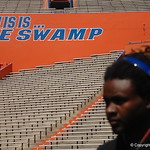 WR Lavarus Tigner  watches the Florida Gators football camp on June 6th, 2015. Gator Country photo by Kassidy Hill.