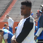 Cornerback commit Chauncey Gardner watches the Florida Gators football camp on June 6th, 2015. Gator Country photo by Kassidy Hill.