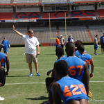 Jim McElwain talks before the Florida Gators football camp on June 6th, 2015. Gator Country photo by Kassidy Hill.