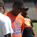 WR Cavin Ridley watches  the Florida Gators football camp on June 6th, 2015. Gator Country photo by Kassidy Hill.