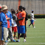 Deerfield Beach players watch the Florida Gators football camp on June 6th, 2015. Gator Country photo by Kassidy Hill.