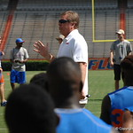 Head coach Jim McElwain talks before the Florida Gators football camp on June 6th, 2015. Gator Country photo by Kassidy Hill.