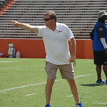 Jim McElwain observes the Florida Gators football camp on June 6th, 2015. Gator Country photo by Kassidy Hill.