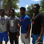 Lamical Perine, Darius Whitfield, Chauncey Gardner and Justin Hosea-Williams before the Florida Gators football camp on June 6th, 2015. Gator Country photo by Kassidy Hill.