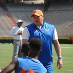 Defensive coordinator Geoff Collins preparing for  the Florida Gators football camp on June 6th, 2015. Gator Country photo by Kassidy Hill.