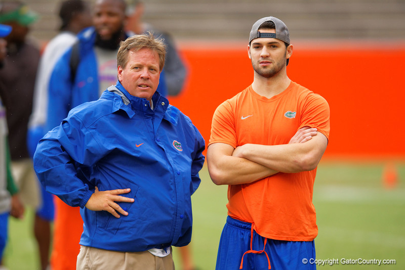 Jim McElwain and Will Grier