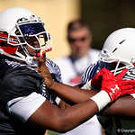 University of Florida Gators recruit defensive tackle Coynis Miller Jr. during the first day of practice for the 2017 Under Armour All-America High School Football Game at the ESPN Wide World of Sports in Orlando, Florida  December 31st, 2017. Gator Country photo by David Bowie.