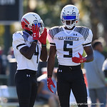 University of Florida Gators recruit wide receiver Justyn Ross during the first day of practice for the 2017 Under Armour All-America High School Football Game at the ESPN Wide World of Sports in Orlando, Florida  December 31st, 2017. Gator Country photo by David Bowie.