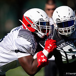 University of Florida Gators recruit offensive tackle Nicholas Petit-Frere during the first day of practice for the 2017 Under Armour All-America High School Football Game at the ESPN Wide World of Sports in Orlando, Florida  December 31st, 2017. Gator Country photo by David Bowie.