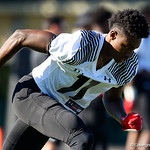 University of Florida Gators recruit wide receiver Tommy Bush during the first day of practice for the 2017 Under Armour All-America High School Football Game at the ESPN Wide World of Sports in Orlando, Florida  December 31st, 2017. Gator Country photo by David Bowie.