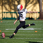 University of Florida Gators recruit kicker Evan McPherson kicking during the first day of practice for the 2017 Under Armour All-America High School Football Game at the ESPN Wide World of Sports in Orlando, Florida  December 31st, 2017. Gator Country photo by David Bowie.