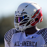 University of Florida Gators recruit offensive tackle Richard Gouraige during the first day of practice for the 2017 Under Armour All-America High School Football Game at the ESPN Wide World of Sports in Orlando, Florida  December 31st, 2017. Gator Country photo by David Bowie.