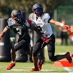 University of Florida Gators recruit cornerback Trey Dean during the first day of practice for the 2017 Under Armour All-America High School Football Game at the ESPN Wide World of Sports in Orlando, Florida  December 31st, 2017. Gator Country photo by David Bowie.