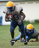 Palatka senior running back Joe Williams works out during the Panthers' football practice on Monday, August 24, 2009 at Palatka High School in Palatka, Fla. / Gator Country photo by Tim Casey
