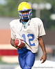 Palatka junior quarterback Lavaris McCullough works out during the Panthers' football practice on Monday, August 24, 2009 at Palatka High School in Palatka, Fla. / Gator Country photo by Tim Casey