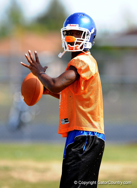 Class of 2010 University of Florida commitment Jaylen Watkins (CB) of Cape Coral High School works out on the second day of Spring practice on Saturday, May 2, 2009 in Cape Coral, Fla. / Gator Country photo by Casey Brooke Lawson