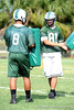 Class of 2011 University of Florida prospect Clay Burton (TE/DE)  and class of 2010 prospect Brandon Wilkinson (TE?DE) of Venice High School work out on the first day of Spring practice on Friday, May 1, 2009 in Venice, Fla. / Gator Country photo by Casey Brooke Lawson