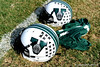 Venice High School helmets and a practice jersey lay discarded on the field on the first day of Spring practice on Friday, May 1, 2009 in Venice, Fla. / Gator Country photo by Casey Brooke Lawson