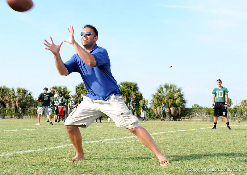 Justin Wells (Gator Country's Mr. Recruiting) shows off his skills on the Venice High School practice field on the first day of Spring practice on Friday, May 1, 2009 in Venice, Fla. / Gator Country photo by Casey Brooke Lawson