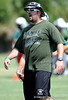 Venice High School Head Football Coach John Peacock directs his team on the first day of Spring practice on Friday, May 1, 2009 in Venice, Fla. / Gator Country photo by Casey Brooke Lawson