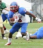RB Vincent Smith of Pahokee carries the ball during second quarter action of the FHSAA Class 2B final on December 13, 2008.