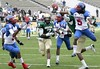 DB Willie Hickman of Pahokee breaks up a Rob Henry pass intended for Kadron Boone late in the fourth quarter of the FHSAA Class 2B final against Trinity Catholic on December 13, 2008.