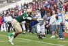 WR Nu'Keese Richardson of Pahokee extends the ball in an effort to score while junior WR/DB Kadron Boone provides defense during second quarter action of the FHSAA Class 2B final on December 13, 2008. Richardson would be marked out at the 1-yard line on this play.