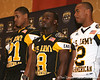 Stamford, Conn. (King & Low Heywood Thomas HS) running back Silas Redd is introduced at a press conference after the fourth day of practice for the U.S. Army All-American Bowl on Thursday, January 7, 2010 at the Grand Hyatt Hotel in San Antonio. / Gator Country photo by Tim Casey
