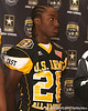 Duncan, S.C. (Byrnes HS) running back Marcus Lattimore is introduced during a press conference after the fourth day of practice for the U.S. Army All-American Bowl on Thursday, January 7, 2010 at the Grand Hyatt Hotel in San Antonio. / Gator Country photo by Tim Casey