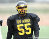 Warner Robins, Ga. (Warner Robins HS) defensive tackle Jeff Whitaker during the East team's fourth day of practice for the U.S. Army All-American Bowl on Thursday, January 7, 2010 at Gustafson Stadium at the Hardin Athletic Complex in San Antonio. / Gator Country photo by Tim Casey