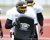 Petersburg, Va. (Petersburg HS) offensive lineman Quinton Spain works out during the East team's fourth day of practice for the U.S. Army All-American Bowl on Thursday, January 7, 2010 at Gustafson Stadium at the Hardin Athletic Complex in San Antonio. / Gator Country photo by Tim Casey