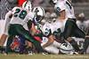 Venice High School junior Mike Herndon makes a tackle during the Venice Indians' 34-10 win against the Southeast Seminoles on Friday, October 2, 2009 at John Kiker Memorial Stadium in Bradenton, Fla. / Gator Country photo by Tim Casey