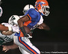 Southeast High School senior Jonathan Dowling (5) scores on a touchdown reception during the Venice Indians' 34-10 win against the Seminoles on Friday, October 2, 2009 at John Kiker Memorial Stadium in Bradenton, Fla. / Gator Country photo by Tim Casey