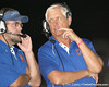Southeast High School coach Paul Maechtle talks to a coach during the Venice Indians' 34-10 win against the Seminoles on Friday, October 2, 2009 at John Kiker Memorial Stadium in Bradenton, Fla. / Gator Country photo by Tim Casey