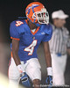 Southeast High School junior wide receiver Adrian Richard lines up during the Venice Indians' 34-10 win against the Seminoles on Friday, October 2, 2009 at John Kiker Memorial Stadium in Bradenton, Fla. / Gator Country photo by Tim Casey